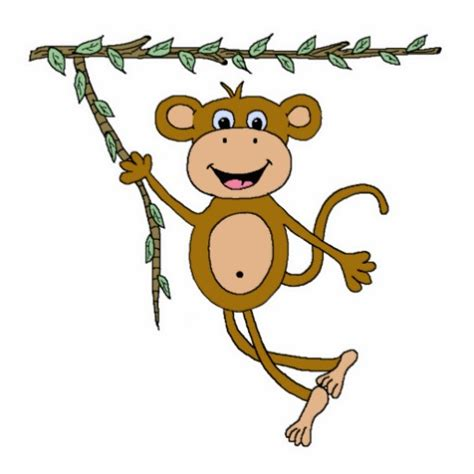 swinging monkey cartoon swinging monkey clipart best