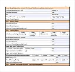 performance management review template sle performance plan 6 documents in pdf word