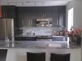 kitchen grey grey kitchen with granite coutertop