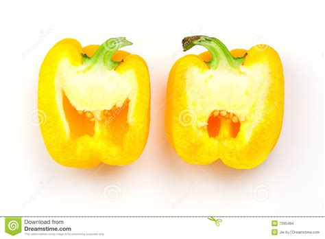 A In Two Parts capsicum cut into two parts stock photo image of healthy