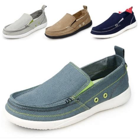 Sepatu Wanita Canvas Loafers Moccasins Casual new mens slip on loafers canvas casual shoes flats breathable comfort moccasins ebay