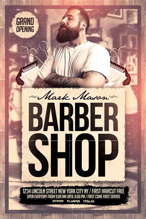 Free Barber Shop Flyer Template Http Xtremeflyers Com Free Barber Shop Flyer Template Free Free Barber Shop Website Template