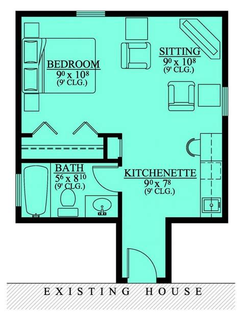 1 S Addition Floor Plans - 654185 in suite addition house plans