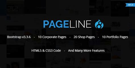 bootstrap themes drupal 8 pageline bootstrap based multi purpose html5 drupal 8