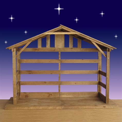 pin wood nativity stable for 12 figures on pinterest