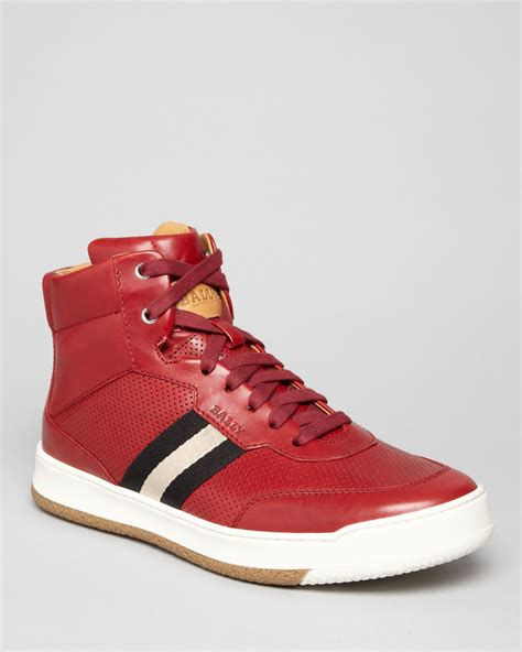 high top bally sneakers bally webbing high top sneakers in for lyst