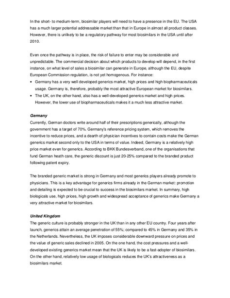 Character Reference Letter Disciplinary Hearing opportunities and barriers in the biosimilar market