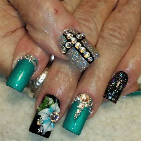 color nail designs 15 teal nail designs you ll fall in with naildesigncode