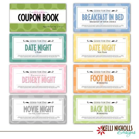 free custom printable love coupons coupon book for your special guy