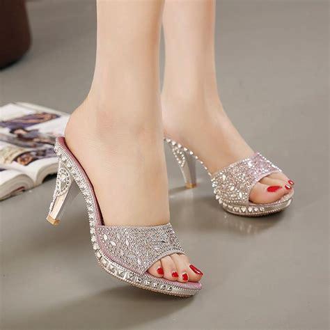 high heel slippers embellished high heels slipp end 8 5 2018 12 46 pm