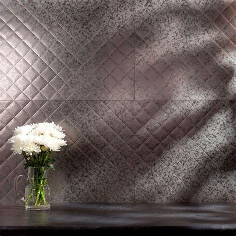 fasade 24 in x 18 in quilted pvc decorative backsplash
