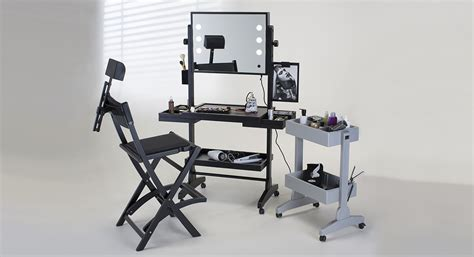 makeup station with lights rolling makeup station with led neutral lights