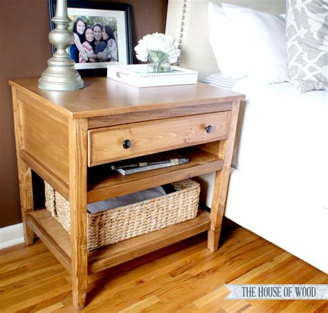 diy bedroom table diy bedside table with drawer and shelf free plans