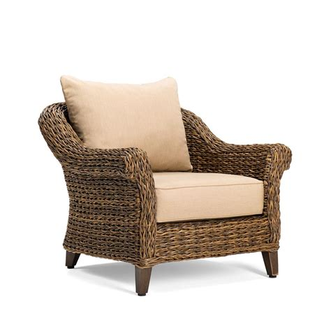 outdoor club chair blue oak bahamas wicker outdoor lounge chair with