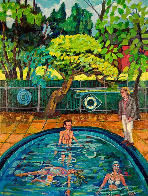 Upsal Gardens by Pool At Upsal Gardens Painting By Doris Grey