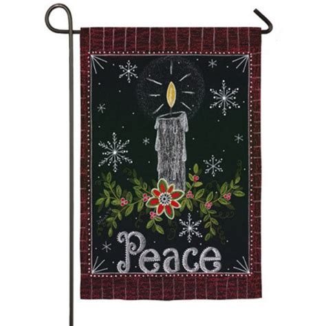 peace candle garden flag christmas flags holidays