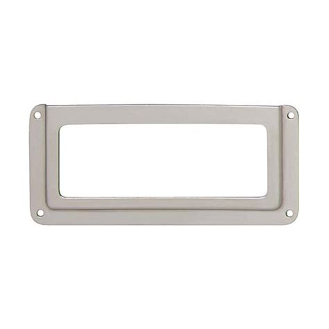 file cabinet label holders hafele cabinet and door hardware 168 02 761 label holder nickel hafele cabinet hardware