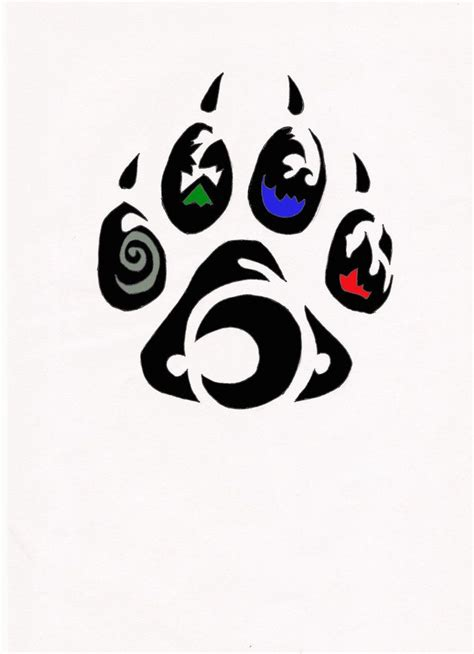 wolf paw tattoo designs element wolf paw tribal by relic94 on deviantart