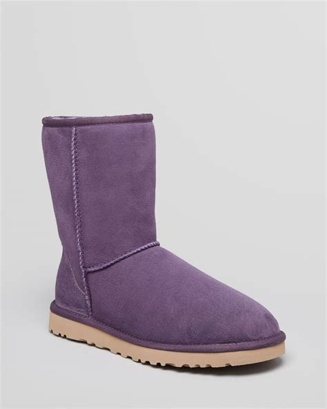 boots purple ugg classic boots in purple purple velvet lyst