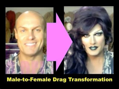 male to female transformation youtube male to female drag queen transformation purple