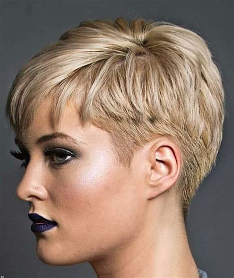cool short over the ear haircut with long bangs 17 best images about short and sassy hair on pinterest