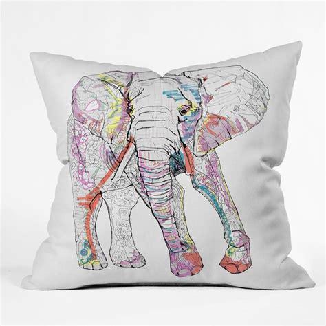 Elephant Pillow casey rogers elephant 1 throw pillow deny designs