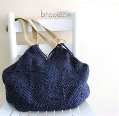 Line Pattern Bag free printable crochet bag patterns