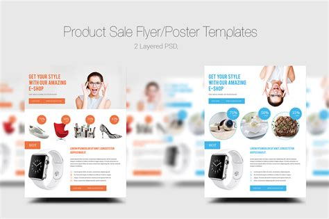Product Sale Flyer Poster Templates Flyer Templates On Creative Market Product Sale Flyer Template