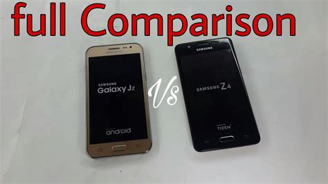 samsung z4 tizen vs galaxy j2 comparison