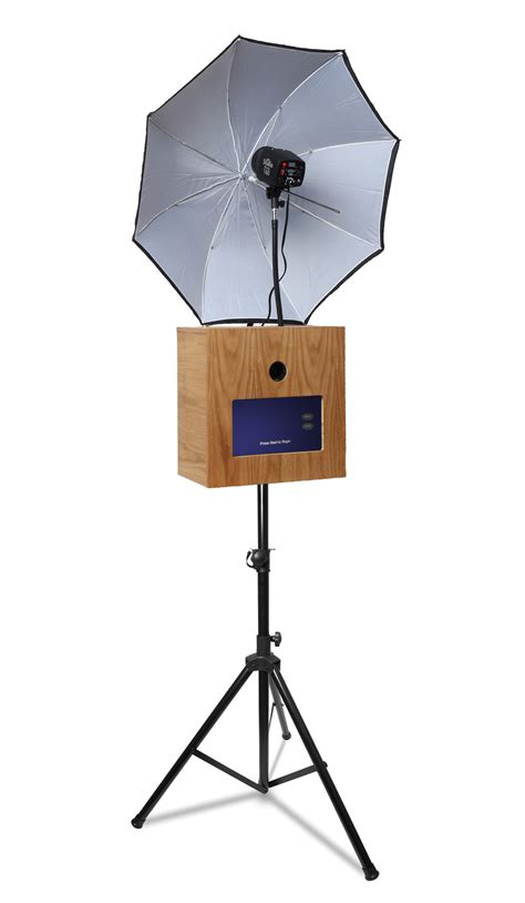 photo booth stand with light open air dslr photo booth shell the probooth market