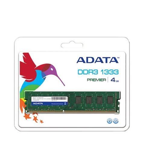 Ram Adata Ddr3 4gb adata premier ddr3 4 gb pc ram ad3u1600w4g11 b ad3u1600w4g11 r buy adata premier ddr3 4 gb