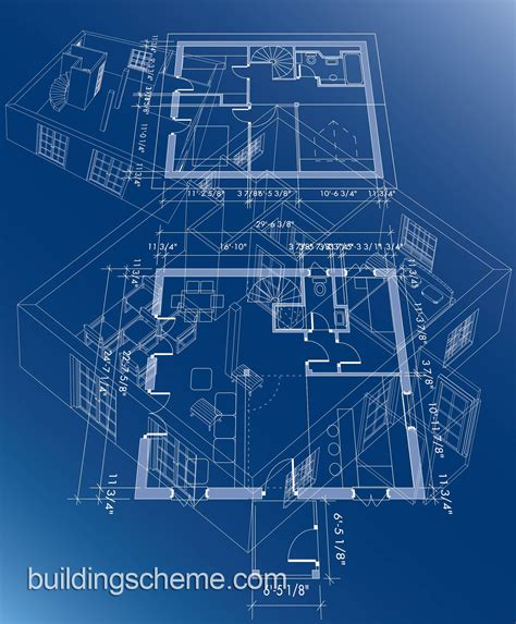 image gallery house building blueprint