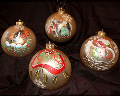 twelve days of christmas ornaments set