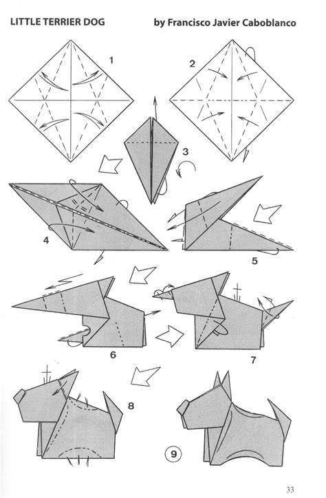 Zodiac Origami - zodiac origami diagrams for the 12 animals in the
