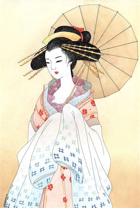 Traditional Japanese Drawings Geisha By Kaminary San On Deviantart