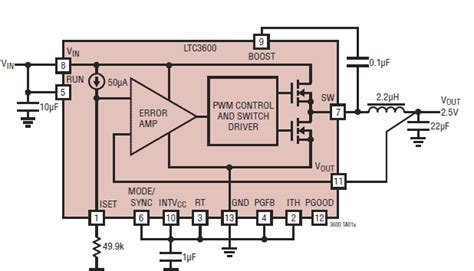 ic resistor resistor programmed switching regulator ic goes rail to rail 0v easily paralleled with