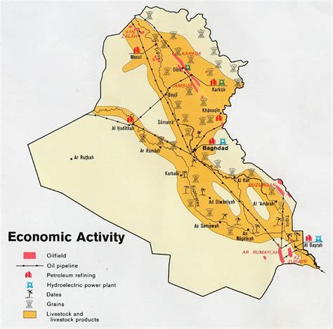 economic map of texas economy in iraq map