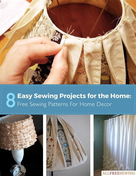 sewing ideas for home decorating 8 easy sewing projects for the home free sewing patterns