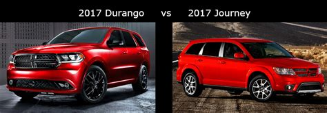 2017 Dodge Durango vs 2017 Dodge Journey Comparison