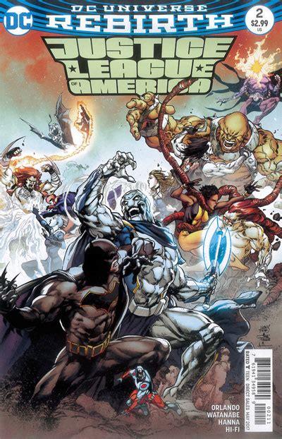 Kaos Gildan Dc Comics Justice League 01 justice league of america 2 rebirth 2017 vf nm dc piranha comics