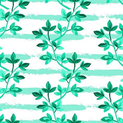 branch name pattern means tree branches with leaves seamless pattern vector 10