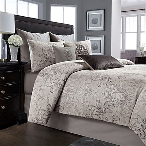 wamsutta 174 cambridge comforter set in charcoal bed bath