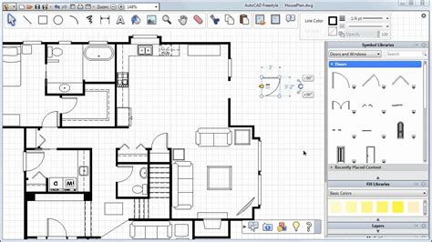 How To Draw Sliding Door In Autocad adding doors windows and more autocad freestyle symbols