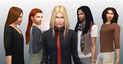 long hairstyles for men sims 4 my stuff male long hair pack