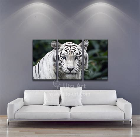 white tiger home decor 2017 modern wall art painting white tiger home decor
