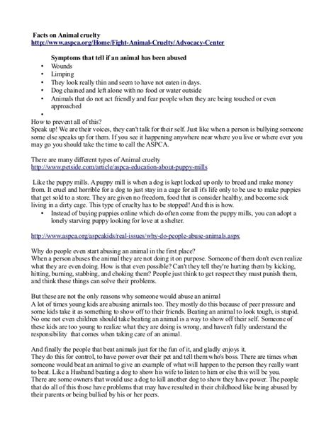 Animal Testing Speech Essays by Animal Cruelty Senior Speech