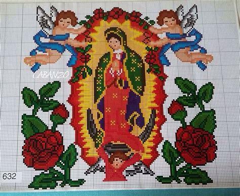 imagenes de virgen de guadalupe en punto cruz virgen punto de cruz santos pinterest virgencita