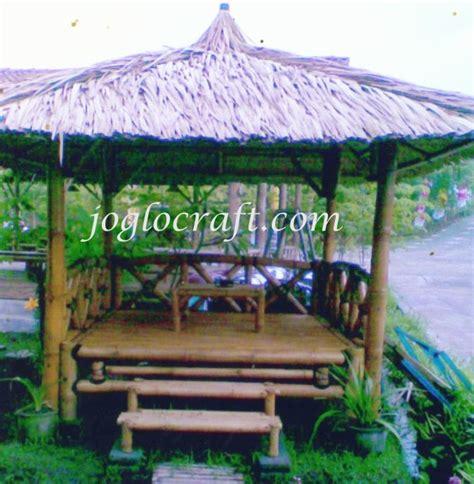 Gantungan Tempat Sah gazebo bambu ciptakan suasana nyaman dan sejuk handycraft