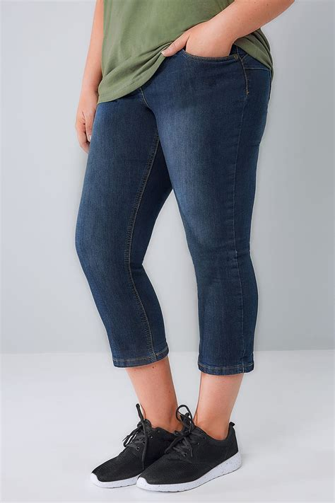 Indigo Check Gift Card Balance - indigo blue denim cropped shaper jeans plus size 14 to 28