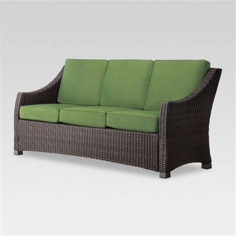 3 person couch belvedere wicker patio 3 person sofa threshold target
